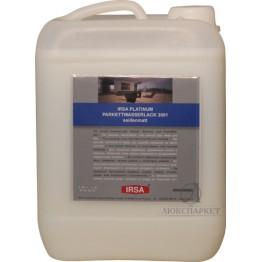 Лак паркетний поліуретановий напівматовий IRSA PLATINUM 1K 3001 SM 5 л