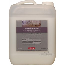 Лак паркетний поліуретановий матовий IRSA PLATINUM 2K 3030 UM 4.725 л