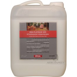 Лак паркетний поліуретановий глянцевий IRSA PLATINUM 2K 3055 HG 4.725 л