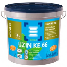 Армированный волокном клей для резиновых покрытий Uzin KE 66 6 кг